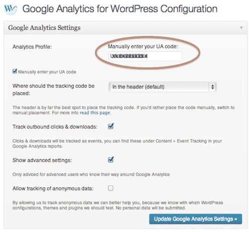 google_analytics_wordpress_plugin_settings