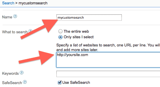 google-custom-search-engine-create-main-options