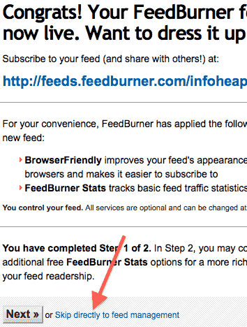 google-feedburner-confirmation-message