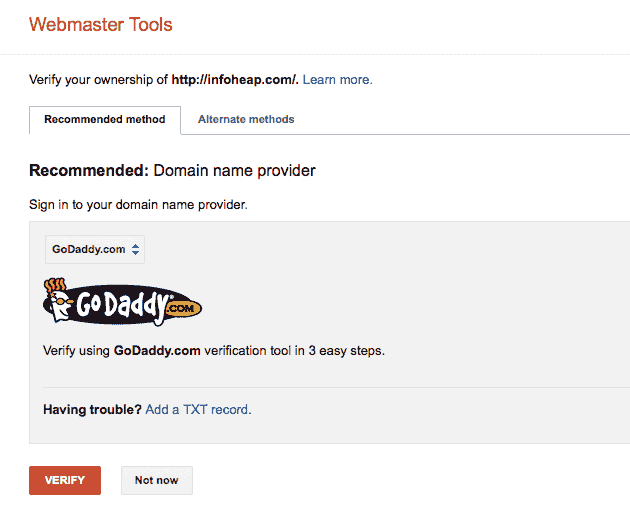 google-webmaster-verify-method-domain-provider