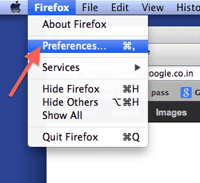 mac-firefox-preferences-menu