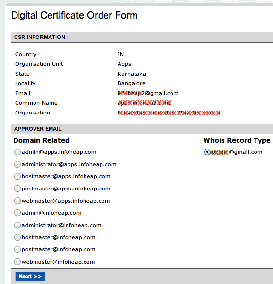 namecheap-digital-certificate-order-form-screen-2