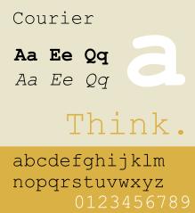 courier-monospace-sample