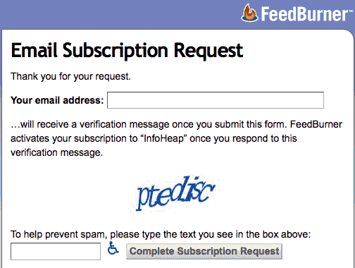 google-feedburner-email-subscription-request-form