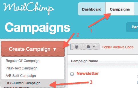 How to setup mailchimp rss email campaign infoheap for Mailchimp create template from campaign