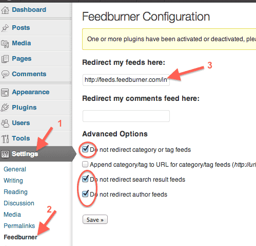 wordpress-feedburner-plugin-confuguration