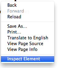 how to see inspect element in chrome