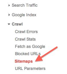 google-webmaster-tools-sitemap-menu-link
