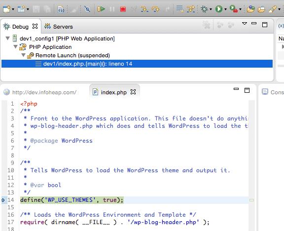 eclipse-php-debug-break-index-php