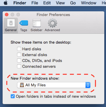 finder-preferences-default-folder-higjlighted