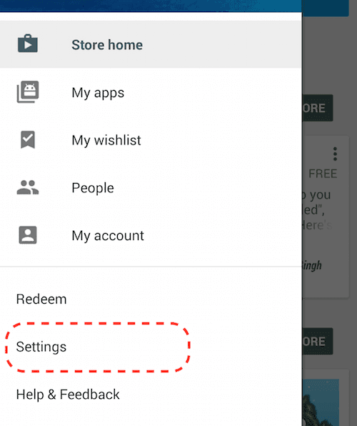 android-google-play-setting-menuooption-highlighted