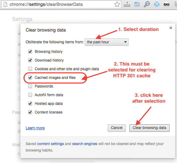 chrome-clear-browing-data-cached-image-and-files-highlighted