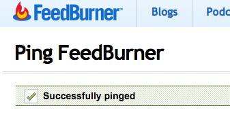 feedburner-ping-successful-msg