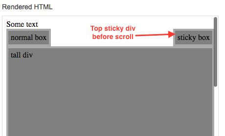 jQuery - make a div stick at top on scroll - InfoHeap