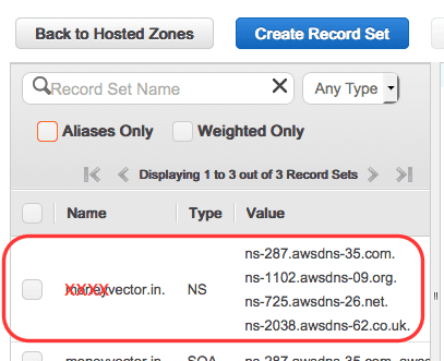 amazon-hosted-zone-ns-records
