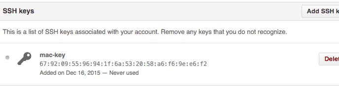 github-account-ssh-keys-list