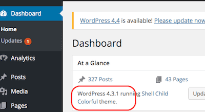 wordpress-dashboard-glance-section-current-version