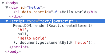 react-javascript-render-hello-world-inspect-dom