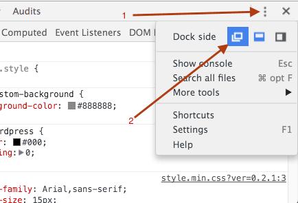 chrome-detach-developer-tools-window