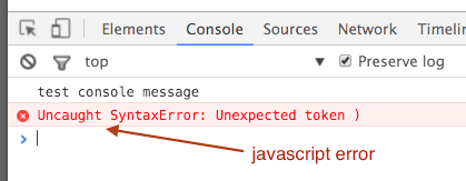 chrome-developer-tools-console-javascript-errors