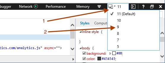 ie-developer-tools-broser-mode